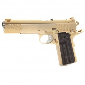 PISTOLET BUL 1911 CLASSIC GOVERNMENT LIMITED ALL GOLD (24 KARAT) 45 ACP